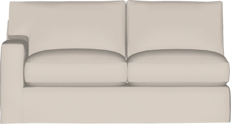 "Our most popular seating solution updates in a slightly slimmer profile with more room to stretch out and more options to dress with your own mix of throw pillows. Its simple lines anchor any room—whether classic, modern or a more eclectic mix—and it's a tremendous value for the quality of construction. Snug-fitting slipcovers hug Axis's plush contours, tailor-made with a sleek floor-length skirt and crisp topstitching. It's a tremendous value for the quality of construction: benchmade frame is kiln-dried hardwood, and soft down-blend seat cushions have an indulgent wrap in downproof ticking to give it that extra ""ahh"" factor when you sit down. Axis sofa group also available.<br /><br />After you place your order, we will send a fabric swatch via next day air for your final approval. We will contact you to verify both your receipt and approval of the fabric swatch before finalizing your order.<br /><br /><NEWTAG/><ul><li>Eco-friendly construction</li><li>Certified sustainable kiln-dried hardwood frame</li><li>Flexolator spring suspension</li><li>Seat cushions are multilayer soy- or plant-based polyfoam wrapped in fiber-down blend and encased in downproof ticking</li><li>Back cushions are fiber-down blend in downproof ticking</li><li>100% cotton muslin base fabric</li><li>Removable slipcovers are machine washable</li><li>Plastic legs</li><li>Benchmade</li><li>Made in North Carolina, USA</li></ul>"