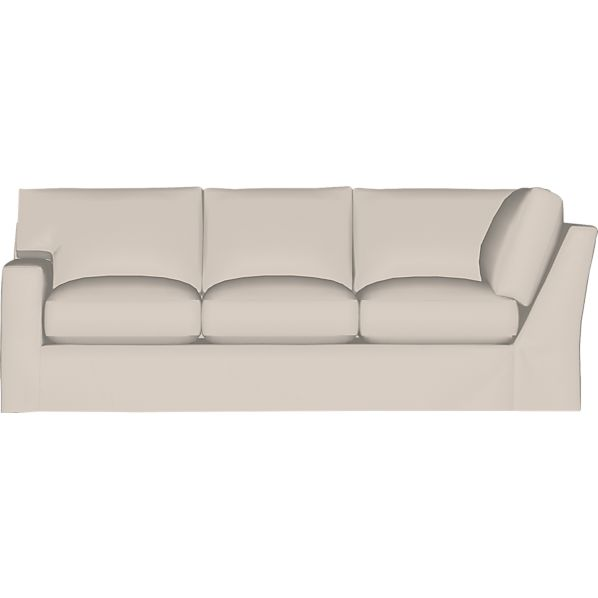 Axis II Slipcovered Left Arm Corner Sofa