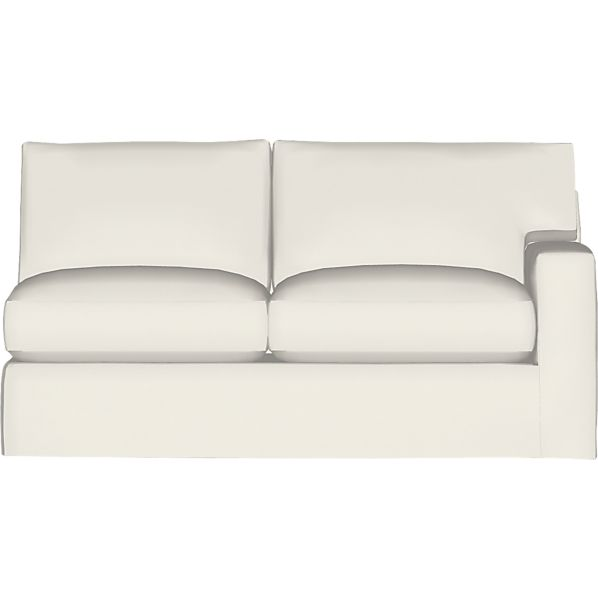 Axis II Slipcovered Right Arm Sectional Full Sleeper Sofa with Air Mattress