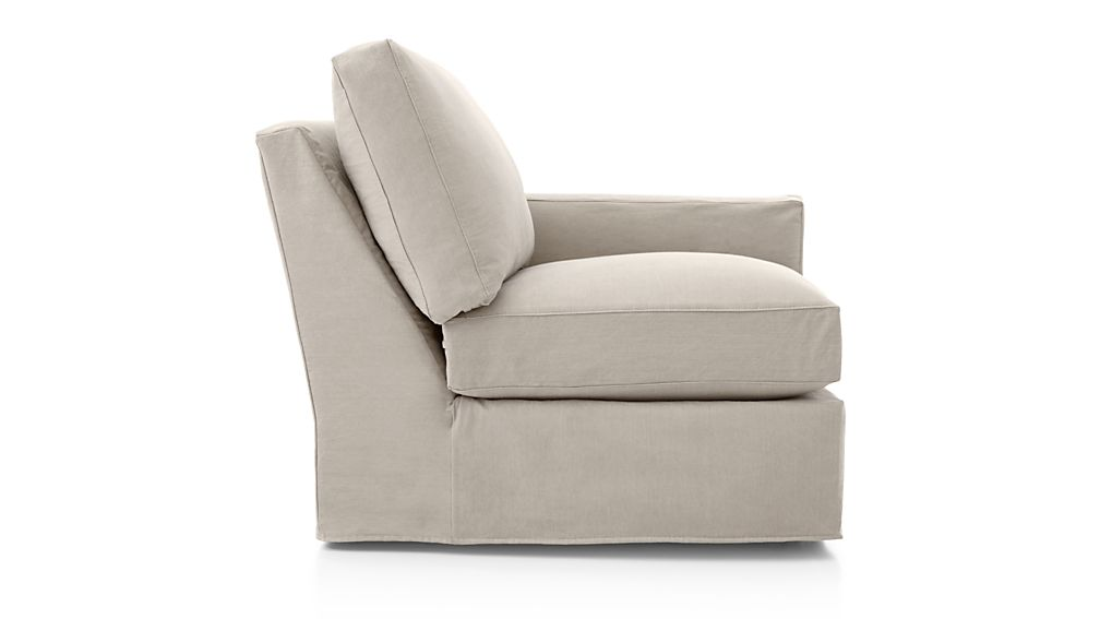 Axis II Slipcovered Right Arm Chair