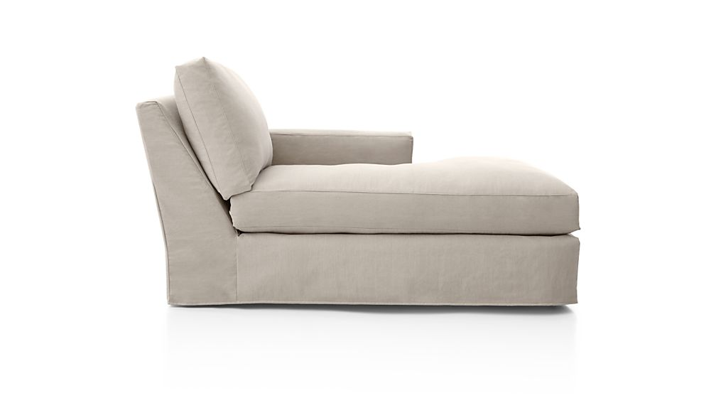 Axis II Slipcovered Right Arm Chaise
