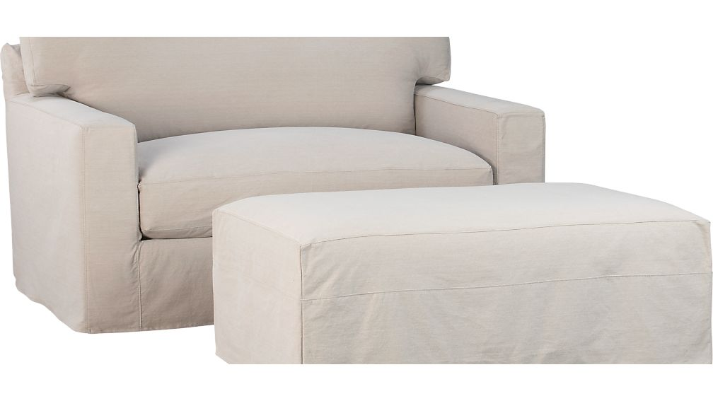 Slipcover Only for Axis II Storage Ottoman