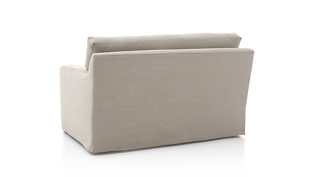 Axis Ii Slipcovered Twin Sleeper Sofa In Axis Sectional