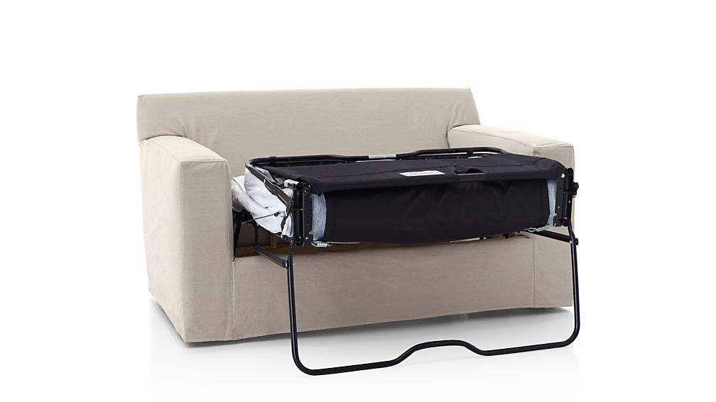 Axis Ii Slipcovered Twin Sleeper Sofa In Axis Sectional