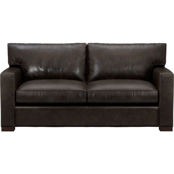 axis ii leather apartment sofa espresso crate and barrel