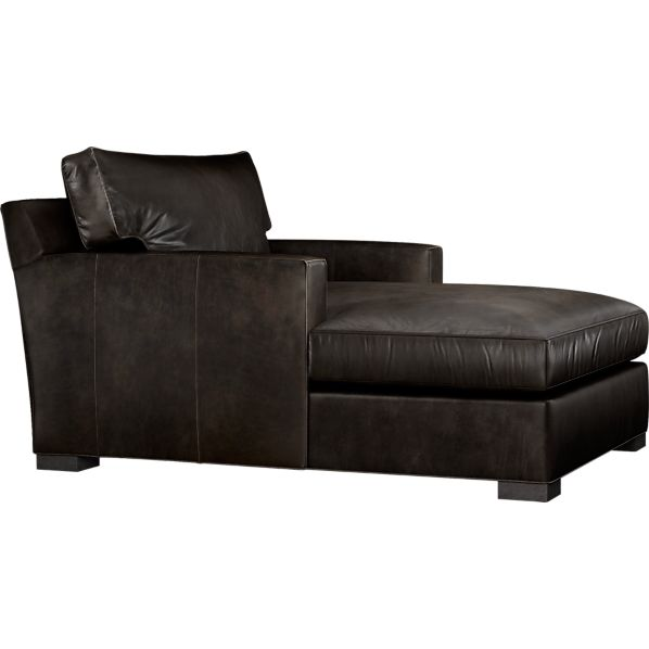Axis II Leather Chaise Espresso Crate And Barrel