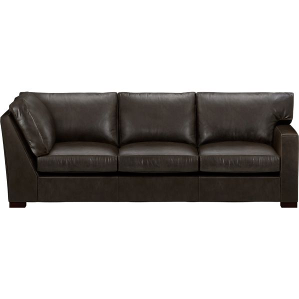 Axis II Leather Right Arm Corner Sectional Sofa