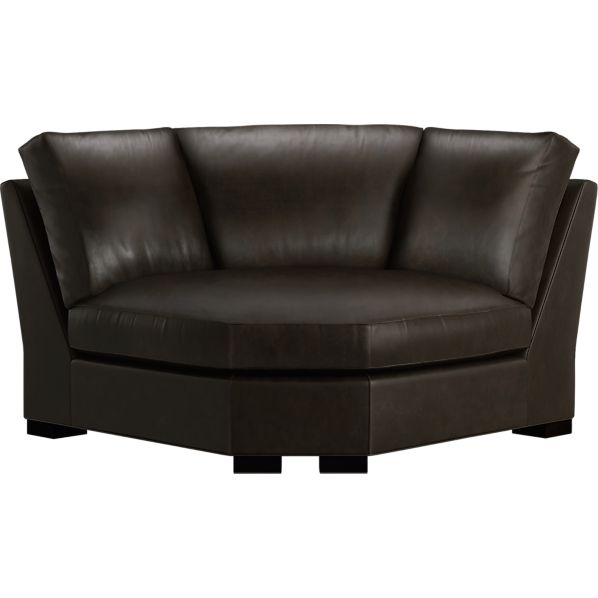 Axis Leather Sectional Wedge
