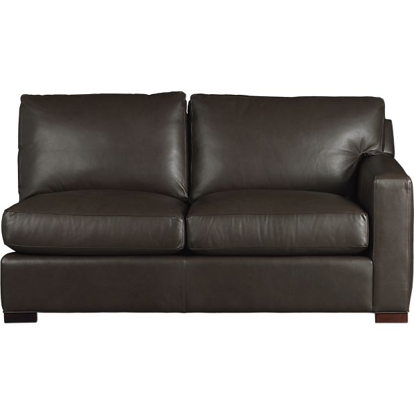 Axis Leather Sectional Right Arm Full Sleeper in Sofas | Crate and ...
