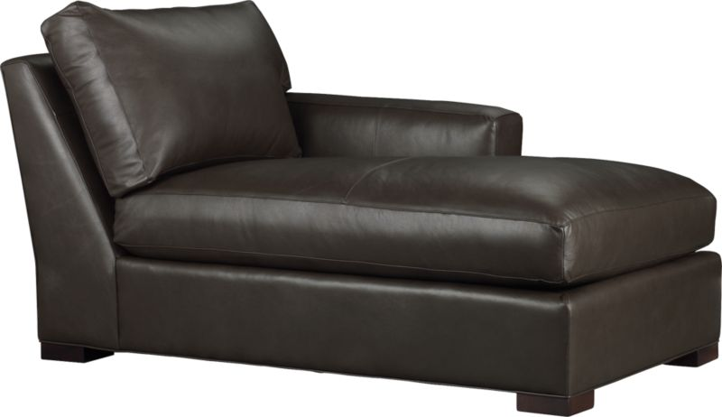 The clean lines of our best-selling Axis relax with casual sophistication in rich full-grain leather. Its natural markings and vintage nature add rich character. Wide track arms and plump back cushion frame the deep seat cushion. Block feet are stained a warm hickory.<br /><br />After you place your order, we will send a leather swatch via next day air for your final approval. We will contact you to verify both your receipt and approval of the leather swatch before finalizing your order.<br /><br /><NEWTAG/><ul><li>Eco-friendly construction</li><li>Certified sustainable, kiln-dried hardwood frame</li><li>Seat cushion is multilayer soy- or plant-based polyfoam wrapped in fiber-down blend and encased in downproof ticking</li><li>Back cushion is fiber-down encased in downproof ticking</l