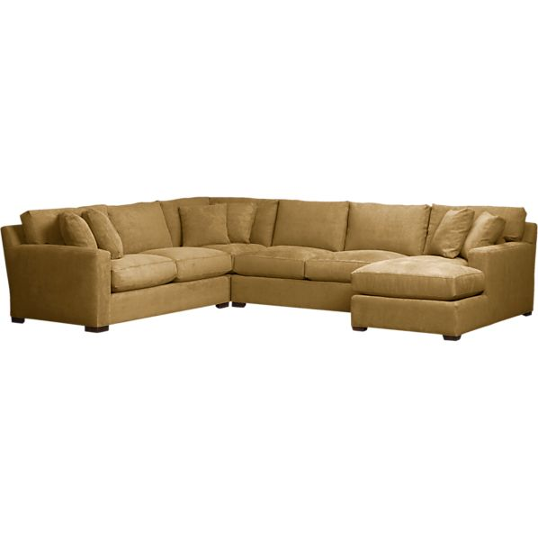 Axis 4-Piece Right Arm Chaise Corner Sectional