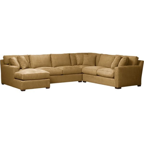 Axis 4-Piece Left Arm Chaise Corner Sectional