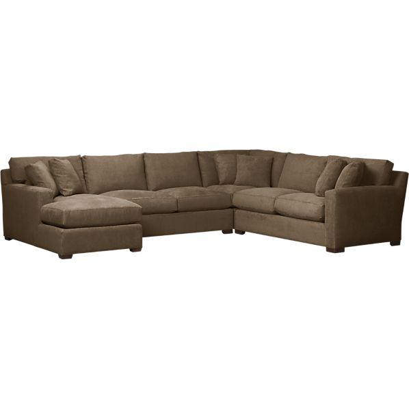 Axis 4-Piece Corner Left Arm Chaise Sectional