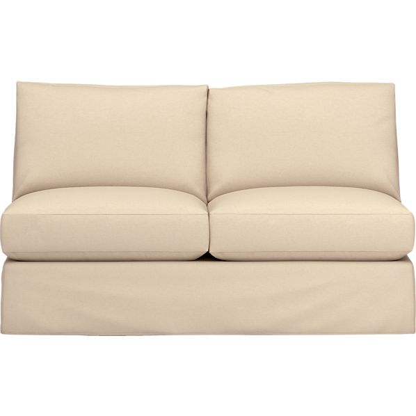 Axis Slipcovered Armless Sectional Loveseat in Sofas | Crate and ...