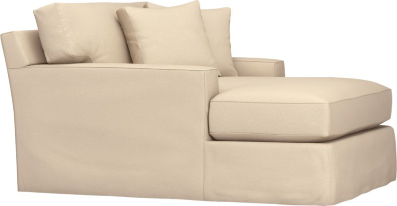 "Snug-fitting slipcovers hug Axis's deep and roomy contours, tailor-made with sleek floor-length skirt and crisp topstitching.<br /><br />Additional <a href=""http://crateandbarrel.custhelp.com/cgi-bin/crateandbarrel.cfg/php/enduser/crate_answer.php?popup=-1&p_faqid=125&p_sid=DMUxFvPi"">slipcovers</a> available through stores featuring our Furniture Collection.<br /><br />After you place your order, we will send a fabric swatch via next day air for your final approval. We will contact you to verify both your receipt and approval of the fabric swatch before finalizing your order.<br /><br /><NEWTAG/><ul><li>Machine washable</li><li>Topstitching detail</li><li>See additional frame op"