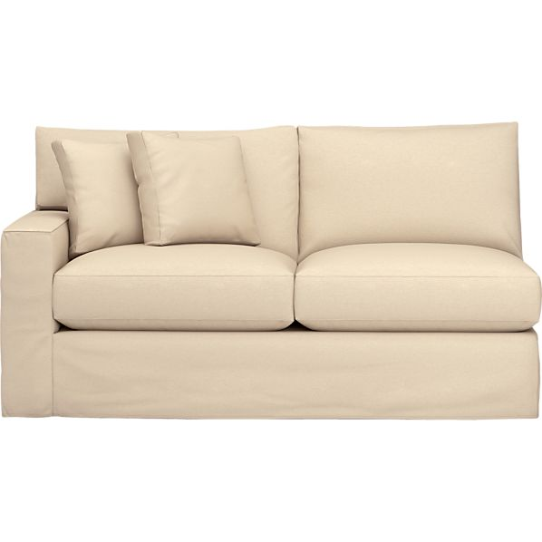 Axis Slipcovered Left Arm Sectional Apartment Sofa