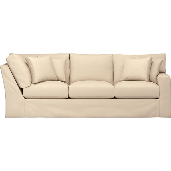 Axis Slipcovered Right Arm Corner Sectional Sofa
