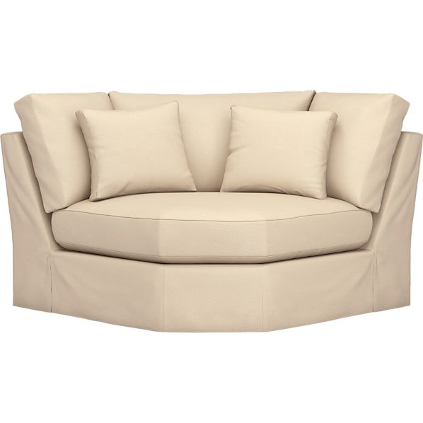 Axis Slipcovered Sectional Wedge