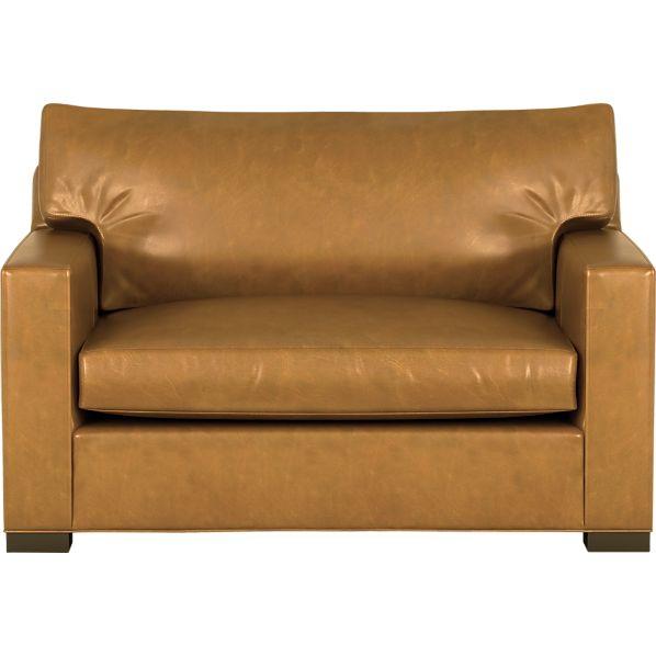 Axis II Leather Twin Sleeper Sofa with Air Mattress