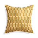 "Azulejo Yellow 18"" Pillow with Feather-Down Insert"
