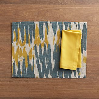 Babo Placemat and Fete Mustard Cotton Napkin