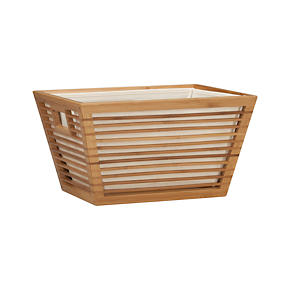 Medium Bamboo Storage Tote with Liner