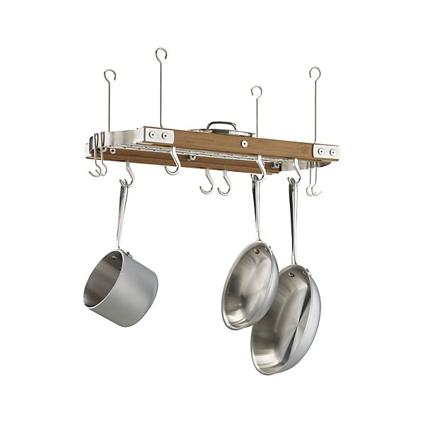Small Bamboo Ceiling Pot Rack