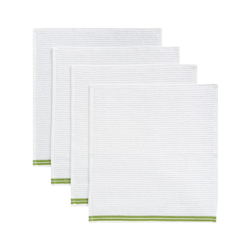 Set of 4 Bar Mop Green Dishtowels