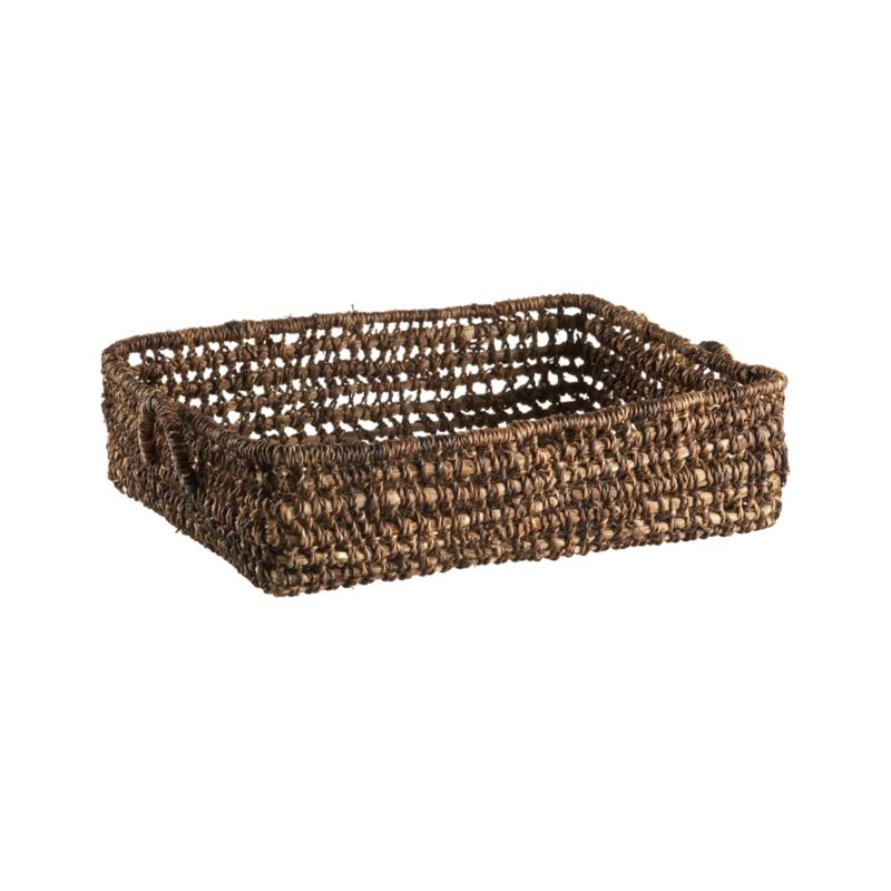 Handcrafted tote of durable, renewable bacbac leaves neatly stashes household clutter with a low profile that stows under beds or up high. All-purpose basket with looped handles.<br /><br /><NEWTAG/><ul><li>100% bacbac leaves</li><li>Indoor use only</li><li>Wipe with dry cloth</li><li>Made in The Philippines</li></ul>