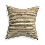 "Barnabas Neutral 20"" Pillow with Feather-Down Insert"