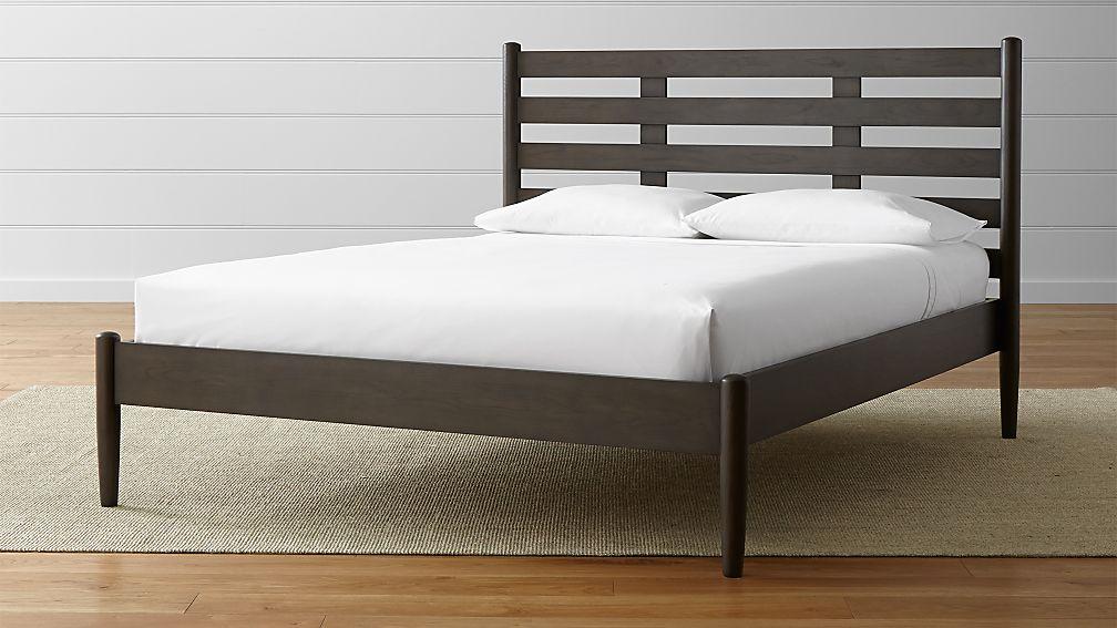 Barnes queen bed in beds amp headboards crate and barrel