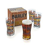 Barrel Beer Glasses Set of Four