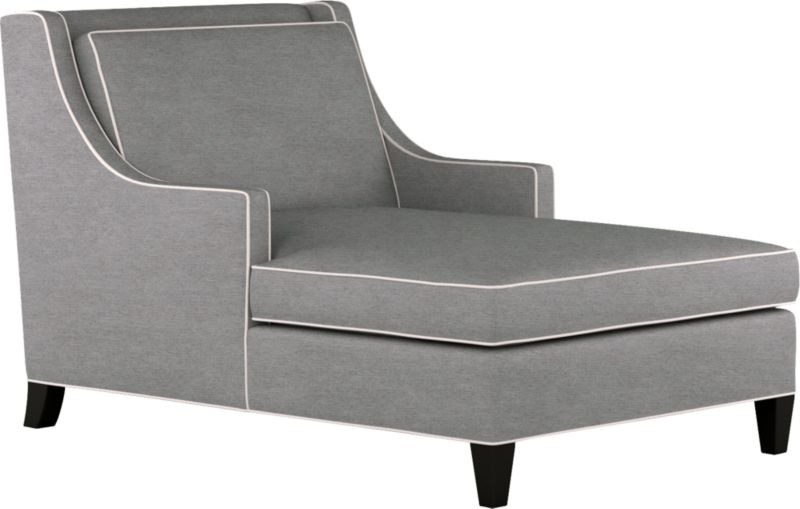 Contemporary looks borrow confidently from the classics in the Barrington with its low, wide look, distinctive lines, ample cushions and cool grey color outlined with contrasting taupe welting. The slim styling of the sloping track arms with makes the most of seating space. Stylish comfort, scaled for a city apartment or smaller room.<br /><br />After you place your order, we will send a fabric swatch via next day air for your final approval. We will contact you to verify both your receipt and approval of the fabric swatch before finalizing your order.<br /><br /><NEWTAG/><ul><li>Eco-friendly construction</li><li>Certified sustainable, kiln-dried hardwood frame</li><li>Seat cushion is soy-based polyfoam with feather-down blend wrap in downproof ticking</li><li>Back cushion is soy-based polyfoam with fiber wrapp