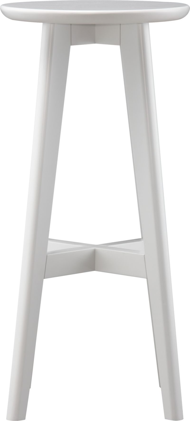 "Our classic, versatile stool takes a clean and simple stance in solid painted rubberwood with a clear lacquer finish and provides seating sized right for bars. Crossbar brace makes a comfortable footrest.<br /><br /><NEWTAG/><ul><li>Solid rubberwood</li><li>Lacquer finish</li><li>30""H seat sized for bars</li><li>Made in Thailand</li></ul>"