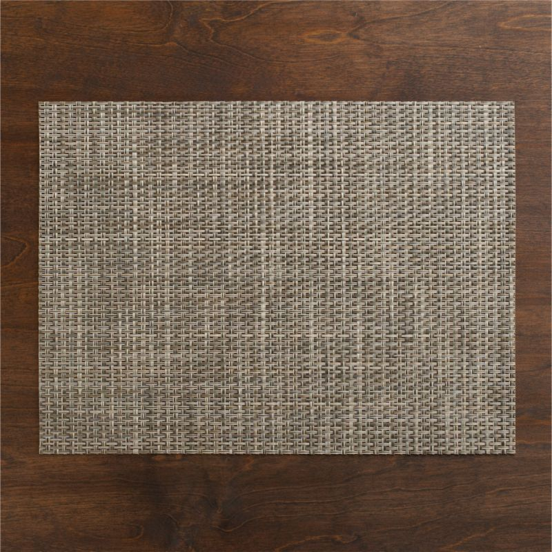 Chic platinum vinyl textures the table with our exclusive Chilewich basketweave placemat.<br /><br /><NEWTAG/><ul><li>100% woven vinyl placemat</li><li>Hand wash placemat</li><li>Made in USA</li></ul><br /><br />