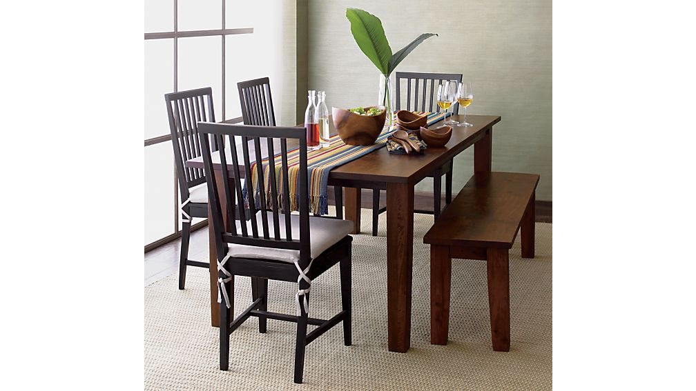 Village Black Wood Dining Chair In Dining Chairs Crate