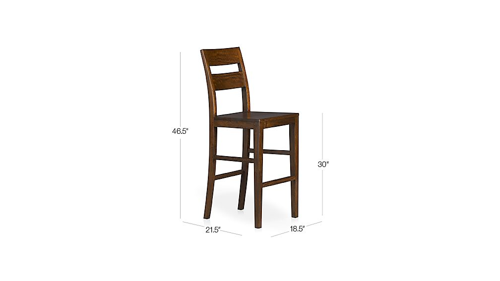 Basque Honey Bar Stool Dimensions
