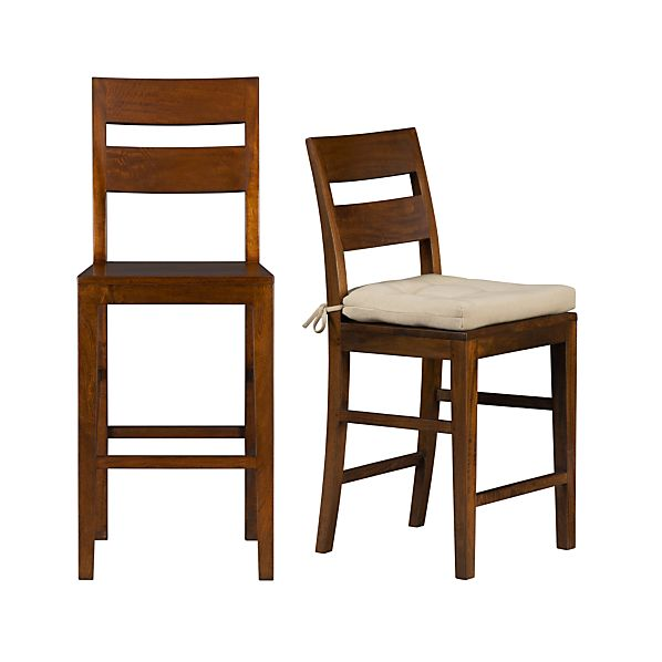 Basque Honey Barstools and Cushion