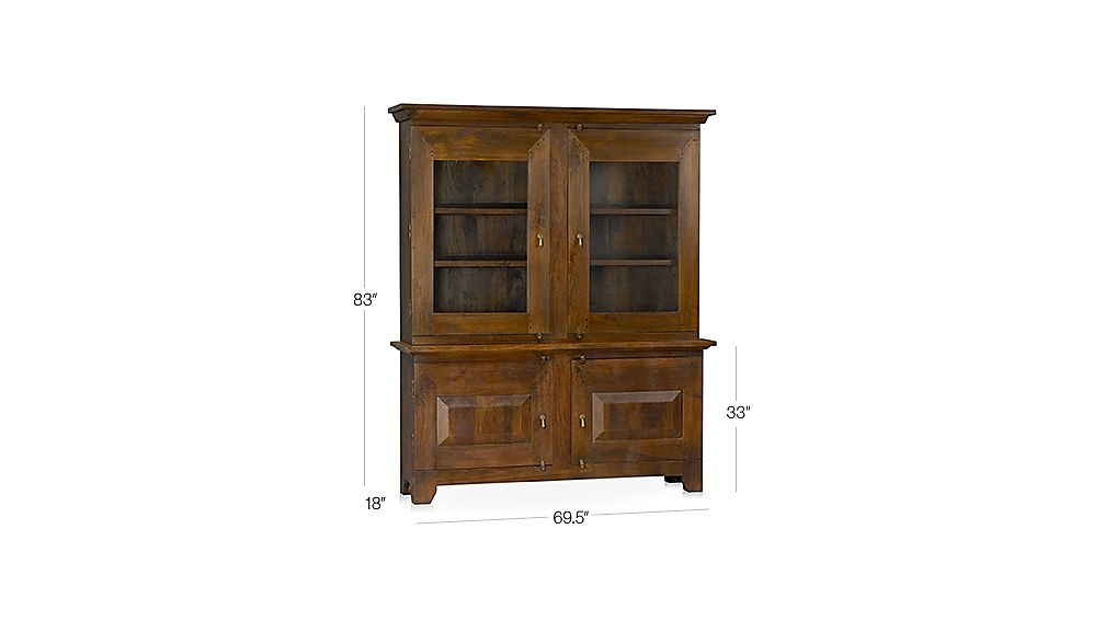 Basque Honey Buffet with Hutch Top Dimensions