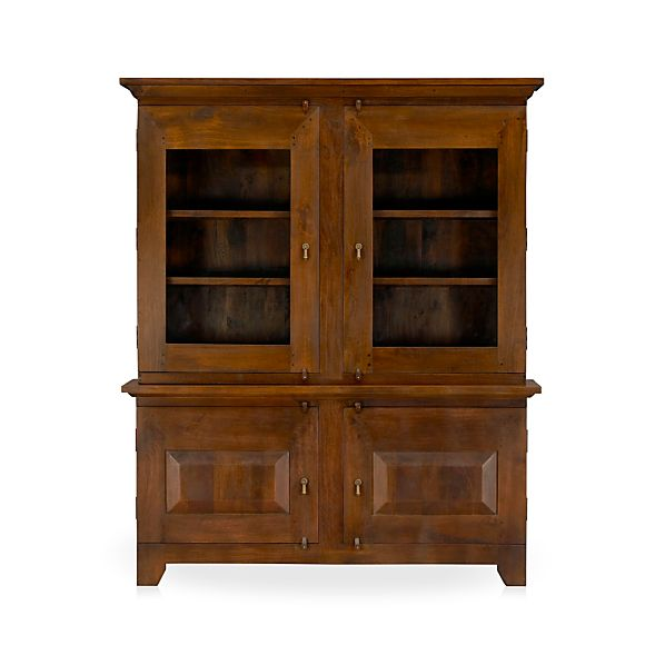 Basque Honey Large Buffet with Hutch Top