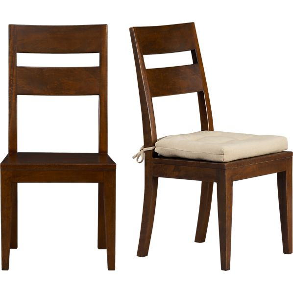 Basque Honey Side Chair And Cushion Crate And Barrel