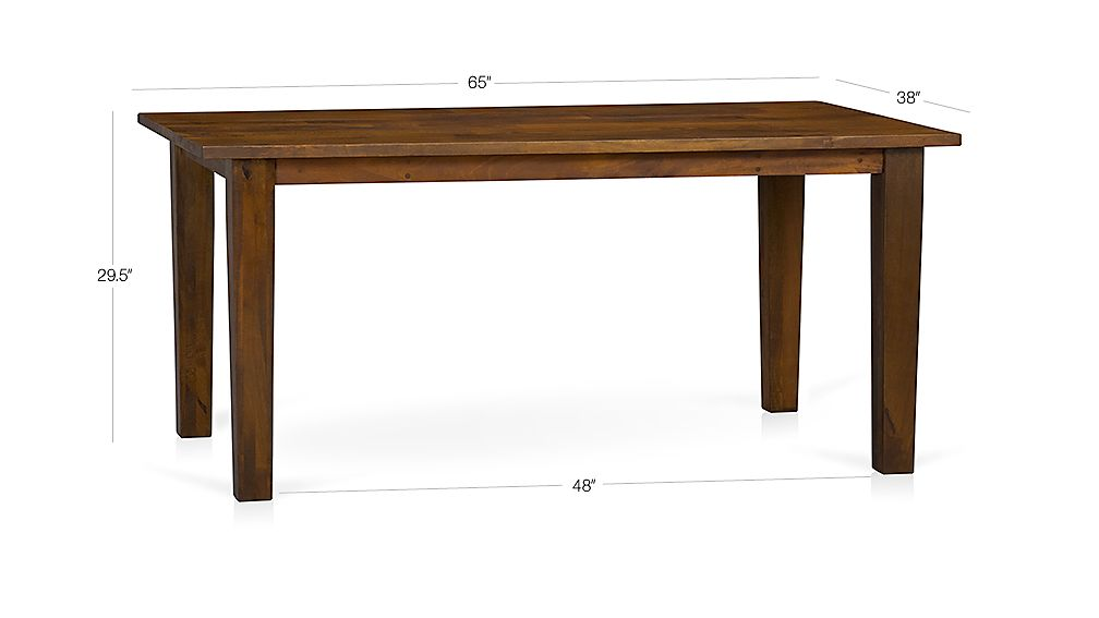 "Basque Honey 65"" Dining Table Dimensions"
