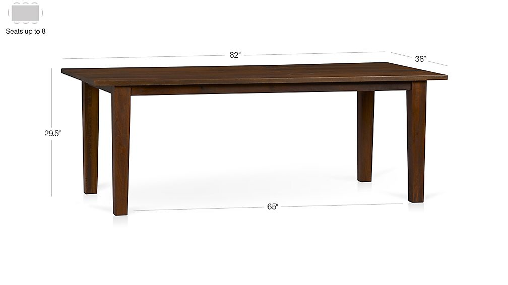 "Basque Honey 82"" Dining Table Dimensions"