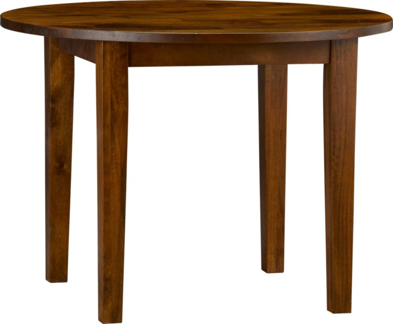 Hand-hewn, compact table has the heft and character of European farmhouse antiques. The simple, rustic design has substantial legs and a hand-planed plank top with authentic peg detailing on the table. Open grain and knots are unique to each piece. The rich honey finish is waxed to a soft sheen.<br /><br /><NEWTAG/><ul><li>Handcrafted</li><li>Sustainable, kiln-dried solid mango wood</li><li>Rich honey finish</li><li>Naturally occurring grain and knots</li><li>Tongue and groove joinery</li><li>Table seats up to four</li><li>Made in India</li></ul>