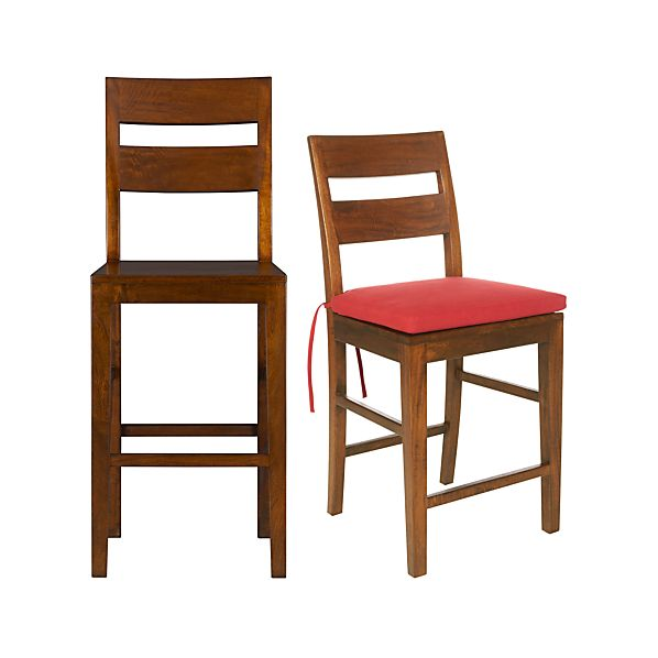 Basque Honey Bar Stools and Cushion