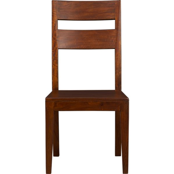 Crate And Barrel Dining Chairs: Basque Honey Side Chair In Dining Chairs