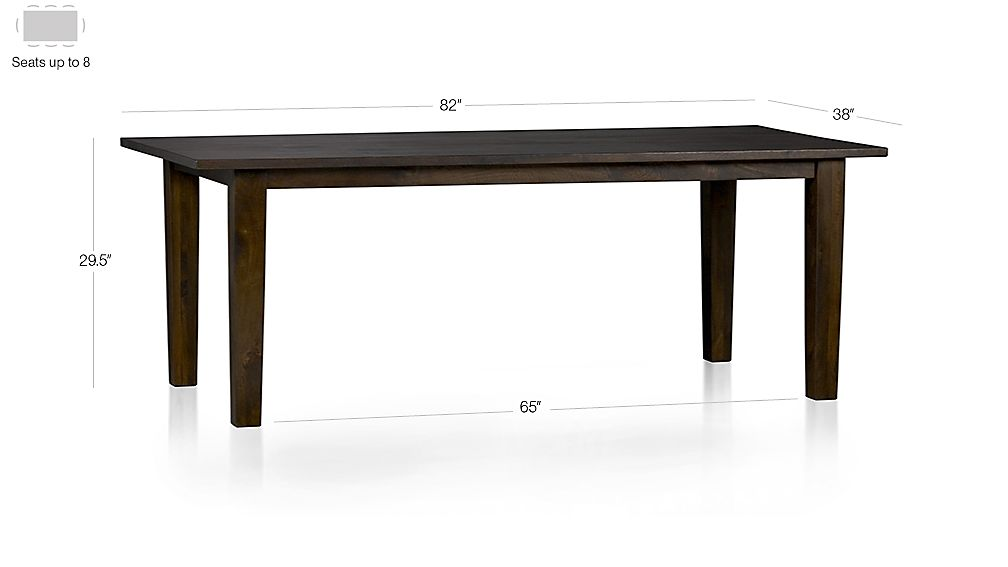 "Basque Java 82"" Dining Table Dimensions"