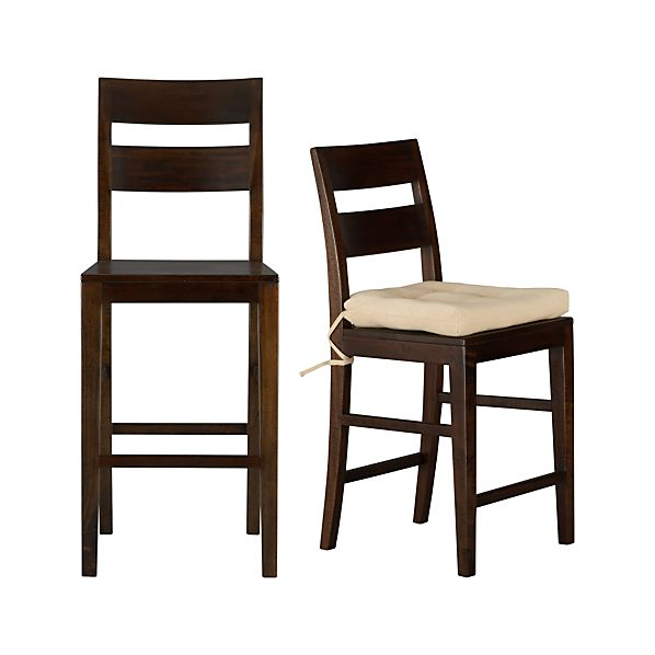 Basque Java Bar Stools And Cushion Crate And Barrel