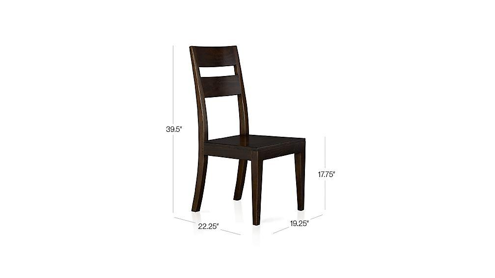 Basque Java Side Chair Dimensions