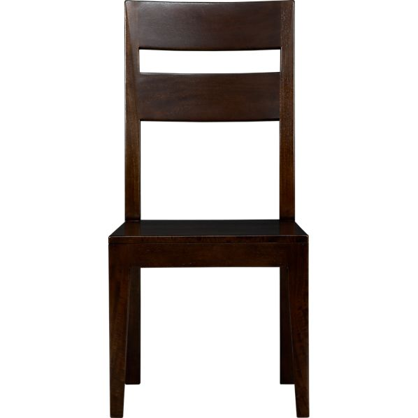 Basque java wood dining chair in dining chairs crate and barrel - Crate and barrel parsons chair ...
